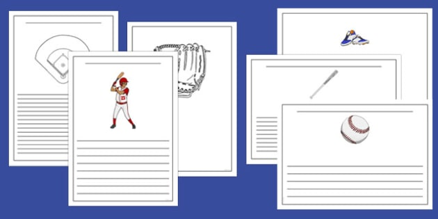 Baseball Writing Templates - usa, mlb, baseball, major league baseball, writing templates