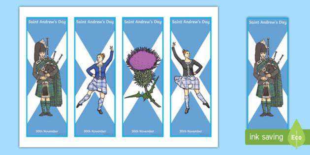 Saint Andrew's Day Bookmarks