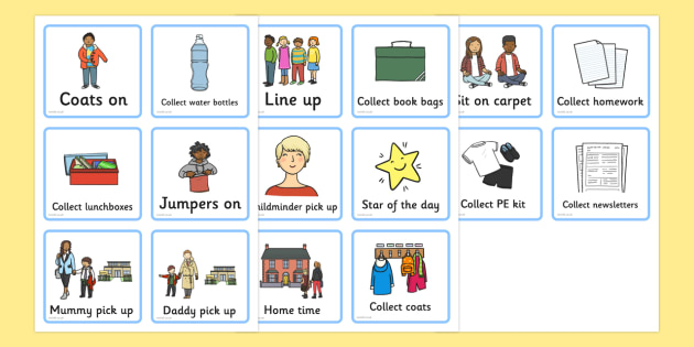 Home Time Routine Visual Timetable - home time, routine, visual timetable
