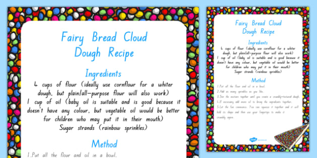 Fairy Bread Cloud Dough Recipe