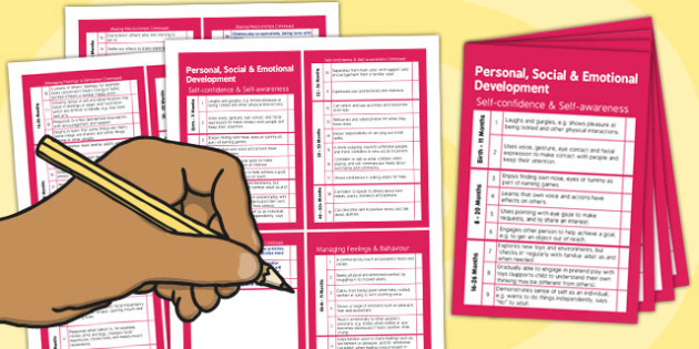 Pocket Sized EYFS Early Years Outcomes Tracking Document Personal, Social and Emotional Development
