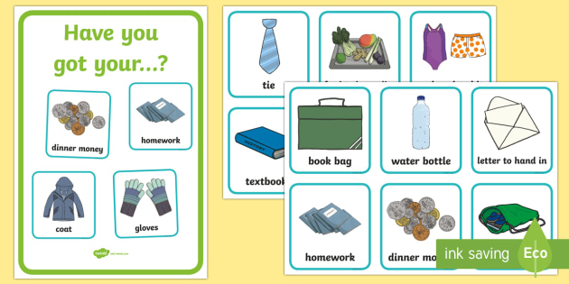 Morning Checklist Pack Poster and cards - morning, routine, organisation, help, advice, support, behaviour