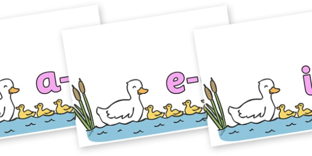 Modifying E Letters on Five Little Ducks - Modifying E, letters, modify, Phase 5, Phase five, alternative spellings for phonemes, DfES letters and Sounds
