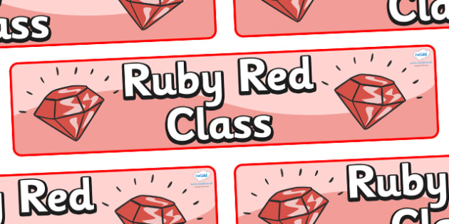 Ruby Red Themed Classroom Display Banner - Themed banner, banner, display banner, Classroom labels, Area labels, Poster, Display, Areas