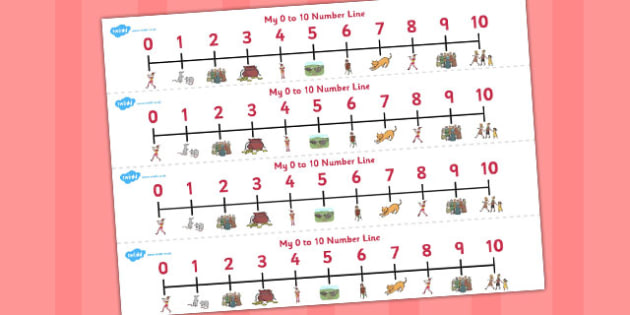 The Pied Piper Number Lines 0-10 - number lines, pied piper
