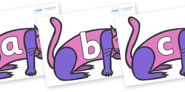 Phoneme Set on Purple Cat to Support Teaching on Brown Bear, Brown Bear - Phoneme set, phonemes, phoneme, Letters and Sounds, DfES, display, Phase 1, Phase 2, Phase 3, Phase 5, Foundation, Literacy