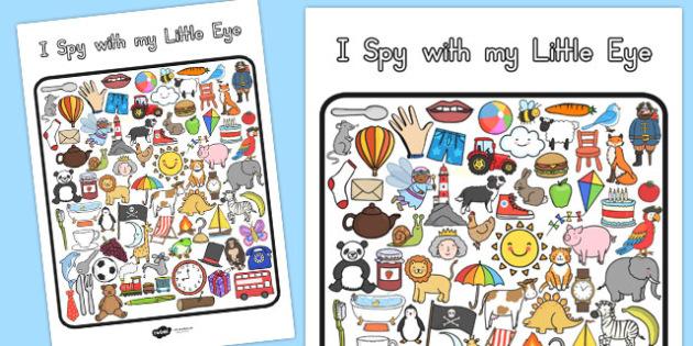 I Spy With My Little Eye Activity - australia, I spy, activity