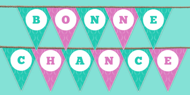 Bonne Chance Bunting - bonne chance, bunting, display bunting, display