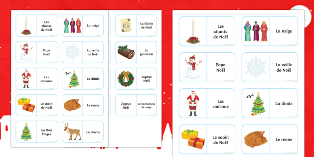 French Christmas Loop Cards