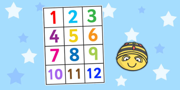 1-12 Bee Bot Number Mat - bee bot, number mat, number, mat, bot