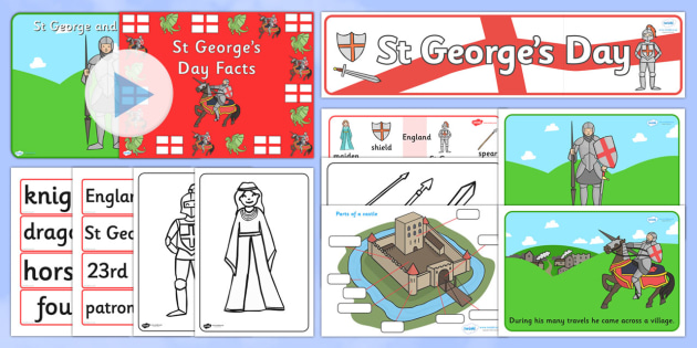 St Georges Day Resource Pack - st george, day, resource, pack