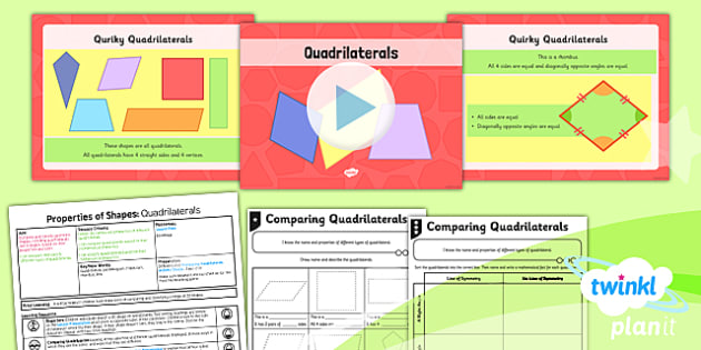 PlanIt Y4 Properties of Shapes Lesson Pack Geometric Shapes (2) - Properties of Shapes, quadrilaterals, 2D shapes