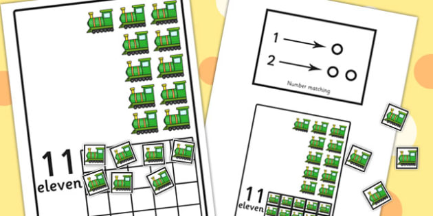 Workstation Pack: 11-20 Train Number Activities