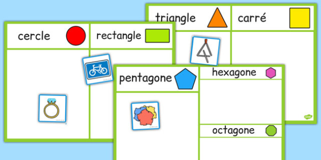 2D Shape Sorting Activity French - french, 2d shape, sorting activity, sorting, activity,2Dshape