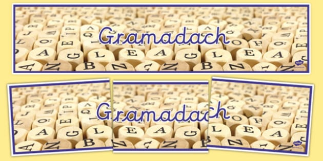 Gramadach Display Banner-Irish