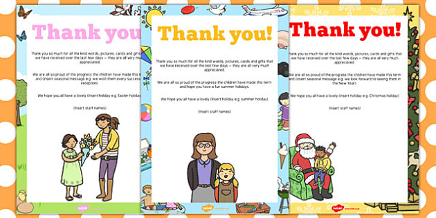 End of Term Editable Thank You Poster Pack - end, term, editable