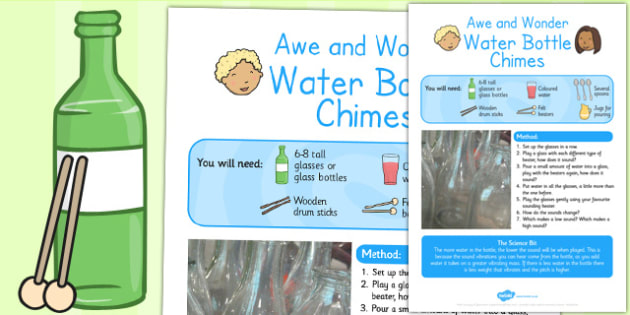 Water Bottle Chimes Awe and Wonder Science Activity - science