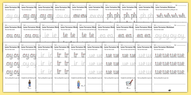 Phase 5 Sounds Letter Formation Worksheets SEN - sound, letters