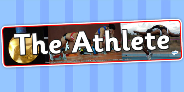 The Athlete Photo Display Banner - athlete, IPC display banner, IPC, athlete display banner, IPC display, athlete IPC banner