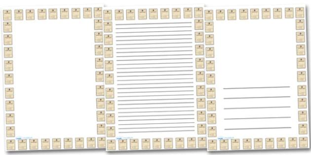 Ration Book Portrait Page Borders- Portrait Page Borders - Page border, border, writing template, writing aid, writing frame, a4 border, template, templates, landscape