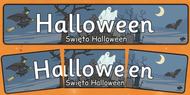 Halloween Display Banner Polish Translation - Poland, display, banner, Halloween