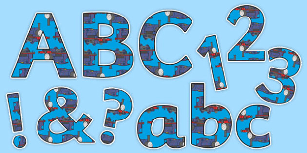 Talking Steam Train Themed Display Lettering Pack - thomas the tank engine, talking steam train, display lettering, pack