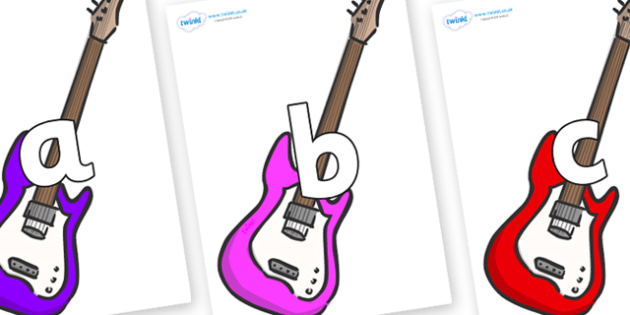 Phoneme Set on Guitar - Phoneme set, phonemes, phoneme, Letters and Sounds, DfES, display, Phase 1, Phase 2, Phase 3, Phase 5, Foundation, Literacy