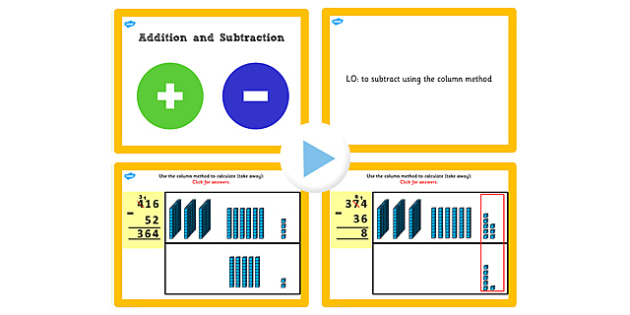 Y3 Add Subtract Lesson 4c 2 Digit Numbers 3 Digit Exchanging Once