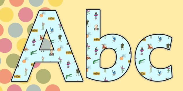 Roald Dahl Lowercase Display Lettering - Roald Dahl Lowercase Display Lettering, Lowercase Display Lettering, Roald Dahl Display Lettering