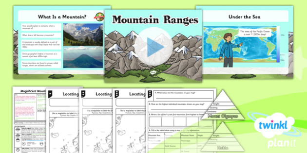 Geography: Magnificent Mountains: Mountain Ranges Year 5 Lesson Pack 1