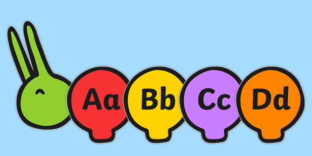 Alphabet on Multicoloured Caterpillars - Literacy, Letters and Sounds, letter formation, CLL, alphabet, phonics, writing, Early Years (EYFS), KS1, KS2 Teaching Resources