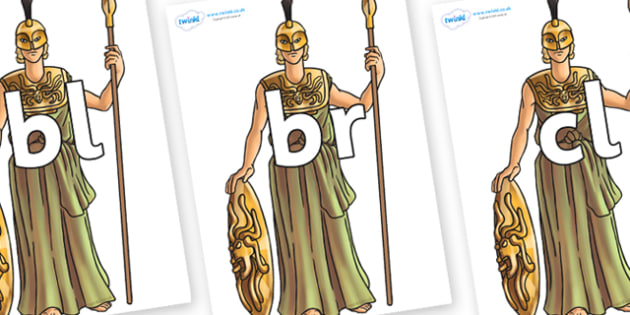 Initial Letter Blends on Athena - Initial Letters, initial letter, letter blend, letter blends, consonant, consonants, digraph, trigraph, literacy, alphabet, letters, foundation stage literacy