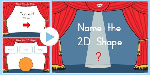 Name the 2D Shape PowerPoint Quiz - australia, 2d, shape, powerpoint