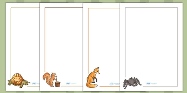 Why Anansi Has Eight Skinny Legs Story Page Borders - writing aid