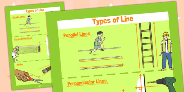 Parallel and Perpendicular Lines Poster - poster, display, lines
