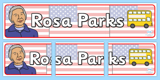 Rosa Parks Display Banner - rosa parks, display, banner, display banner, display header, themed banner, classroom banner, banner display, header, display