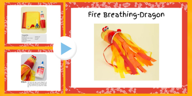 Fire-Breathing Dragon Craft PowerPoint - craft, dragon, fire