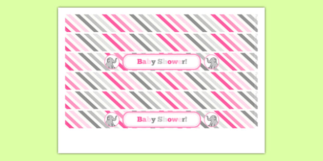 Baby Shower Cake Ribbon Pink Themed - baby shower, baby, shower, newborn, pregnancy, new parents, cake ribbon