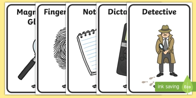 Detective Role Play Posters - detectives, roleplay, display