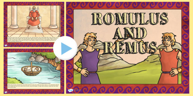 Romulus and Remus Story PowerPoint - roman, romans, rome, ppt