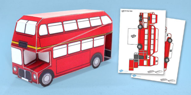 London Bus Paper Model - london, bus, paper model, craft, model