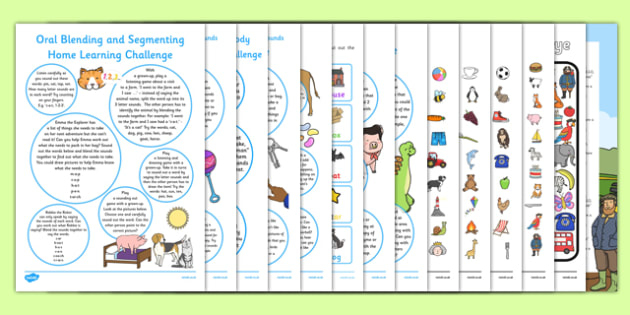 Letters and Sounds Phase 1 EYFS Home Learning Challenge Sheet Resource Pack Reception FS2 - EYFS planning, Early years activities, homework activities, phonics, Letters and Sounds, Phase 1, Aspects 1 to 7.