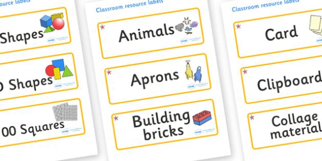Starfish Themed Editable Classroom Resource Labels - Themed Label template, Resource Label, Name Labels, Editable Labels, Drawer Labels, KS1 Labels, Foundation Labels, Foundation Stage Labels, Teaching Labels, Resource Labels, Tray Labels, Printable