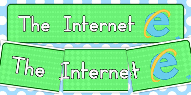 The Internet Display Banner - banners, displays, computer, visual