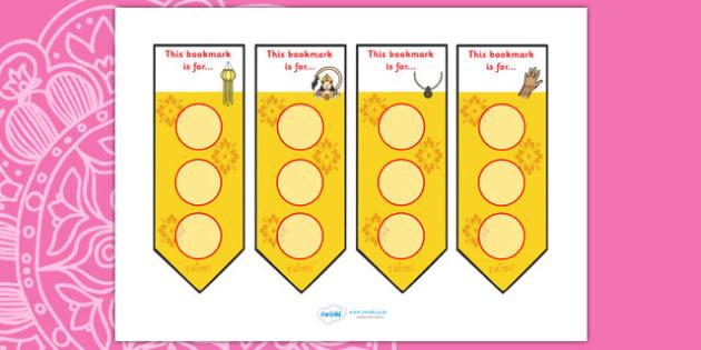 Diwali Sticker Reward Bookmark - diwali, sticker, reward chart, reward, award bookmark, behaviour management, diwali bookmark, diwali stickers