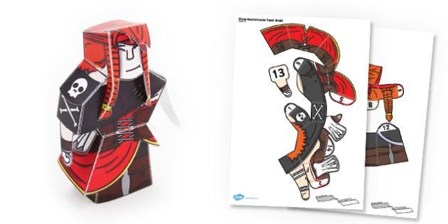 Pirate Quartermaster Paper Model - paper, model, craft, pirate