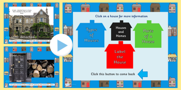 Houses and Homes Information PowerPoint - powerpoint, information powerpoint, houses and homes, houses and homes powerpoint, information, houses, homes