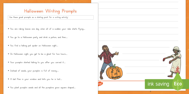 Halloween Writing Prompt Frame