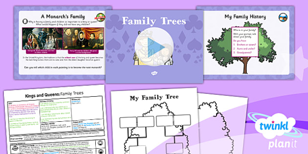 History: Kings and Queens: Family Trees KS1 Lesson Pack 3