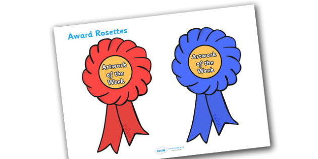 Artwork of the Week Award Rosette - artwork of the week award rosette, artwork of the week, artwork, week, rosette, rosettes, certificates, award, well done, reward, medal, rewards, school, general, certificate, achievement